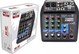 Mesa De Som 4 Canais Mxt Bluetooth Usb Ph Power Mx 4bt
