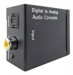 Conversor Áudio Digital Óptico P Analógico Rca
