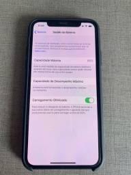 Iphone X Cinza Espacial 256gb sem detalhes - com capa e película 3D
