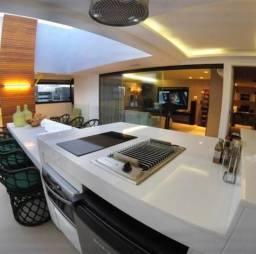Cobertura duplex de alto padrão com 3 suítes +espaço gourmet com vista para o mar