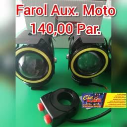 Par Farol Aux. Milha Moto 140,00