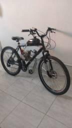 Bicicleta Motorizada 80cc com 18 marchas - 60Km com 1 Litro de gasolina