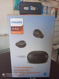 """Fone de ouvido Philips """"True Wireless"""" Preto Original - Nota fiscal + Garantia"""