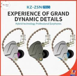 Kz zsn pro sem microfone para retorno de palco