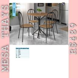 Mesa de cozinha Thays (04 cadeiras)