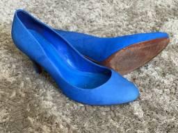 Scarpin camurça azul SCHUTZ n.38