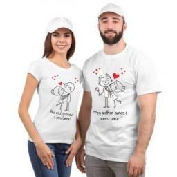 Kit camiseta casal  dia dos namorados
