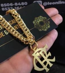 Título do anúncio: Corrente personalizada banhada a ouro 18k?