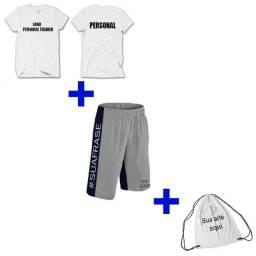 Kit 2 Camisetas E 1 Bermuda Personal Trainer - Personalizado