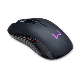 Mouse Sem Fio Gamer Warrior, 3600DPI, LED, 7 Botões