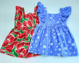 Lote com 2 vestidos infantis (1 ano)