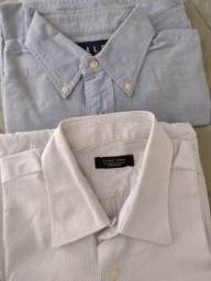 2 camisas manga comprida<br>Zara e Ralph L.<br>Masculina<br>100 reais as 2!