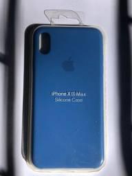 Título do anúncio: Capinha Aveludada Para iPhone XS Max - Azul