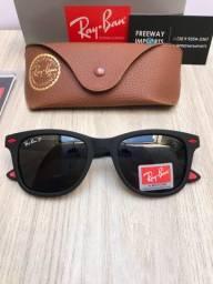 Óculos de sol Ray ban Ferrari black polarizado