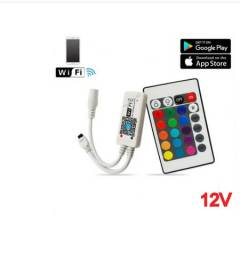 Controlador E Controle Wi-fi Fita Led Rgb Ios E Android
