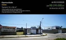 Oportunidade: Terreno 10 x 30 m², Duas quadras da Praia das Palmeiras, Doc 100%