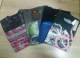 Kit Camisetas Originais De Marcas Estonadas