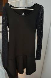 Vestido Preto com renda TNG