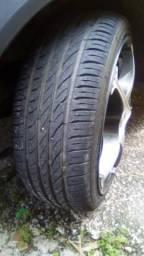 Vendo ou troco aro 17 com pneus novos 2meses de uso
