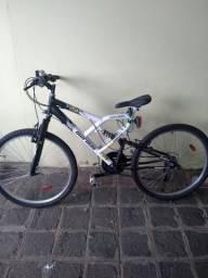 2 Bicicletas Mormaii Aro 26 Quadro 19 Full Suspension Aço Big Rider 21M Branca