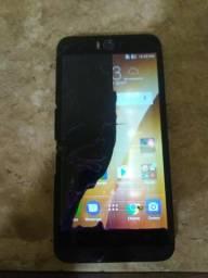 Zenfone selfie tela quebrada