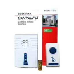 Campainha Sem Fio 32 Toques Led Wireless Bivolt 100 Metros