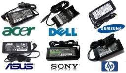Fonte Carregador Novo! Notebook Hp Dell Samsung Itautec Compaq Sti Lenovo Asus LG e Outros