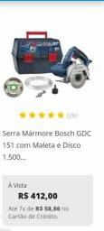 Serra mármore Bosch + Rebitador