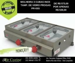 Molheira 3 cubas PR- 03G / BrCozine