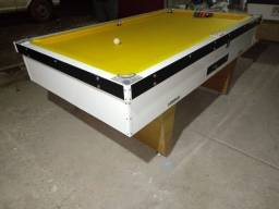 Mesa Gaveta Comercial Cor Branca Tecido Amarelo Mod. LUPC8237