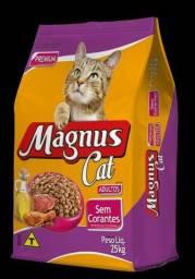 Ração Magnus Cat Premium Gatos Adultos Sem Corantes - 25 kg