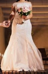 Vestido de noiva usado apenas 1x - Com Brinde