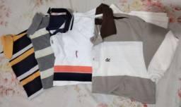 4 camisas polo por apenas 50 reais