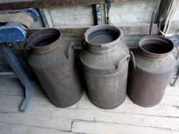 Galão de leite antigo tambor para decoraçao