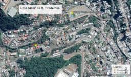 Terreno com 843m² na rua Tiradentes com frente de 20 metros em Joaçaba