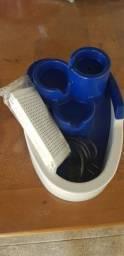 Fonte para gatos usada com kit de filtros lacrado