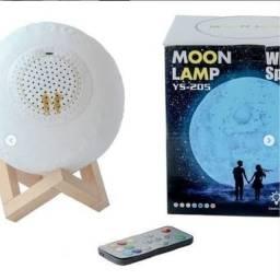Caixa de som/Luminária de Lua cheia