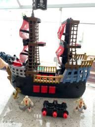 Navio Pirata Imaginext completo impecável