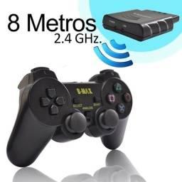 Controle Sem Fio Playstation2 2.4ghz Dualshock Analógico e Conector PS2