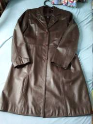 Lindo casaco de couro legitimo