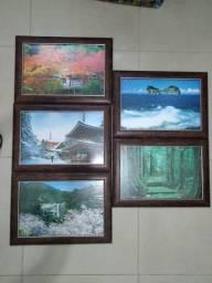 Conjunto de quadros com moldura