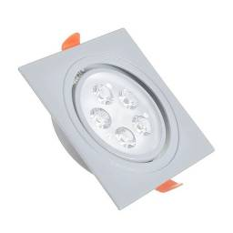 Spot LED 5w 6000k quadrado 12x12cm