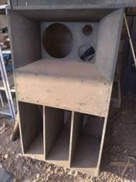 02 caixa madeira de Som