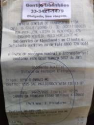 Vende se uma passagem de guanhaes pra sao paulo gontijo. 95 reais....