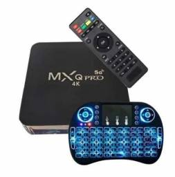 TvBox MxqPro 4K HD 8G de Ram 64GB com Teclado Luminoso