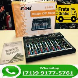 Mesa De Som 7 Canais Mixer Bluetooth Mp3 Player Digital Usb (NOVO)