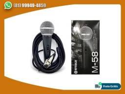 Microfone com fio M58 profissional