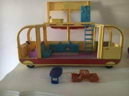 Ônibus acampamento Peppa Pig
