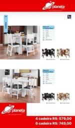 Mesa para jantar 4 cadeiras Milano