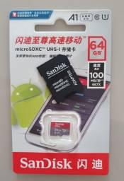 Cartão de Memória 64gb SanDisk Ultra Classe 10 - 100% Original+ Adaptadores